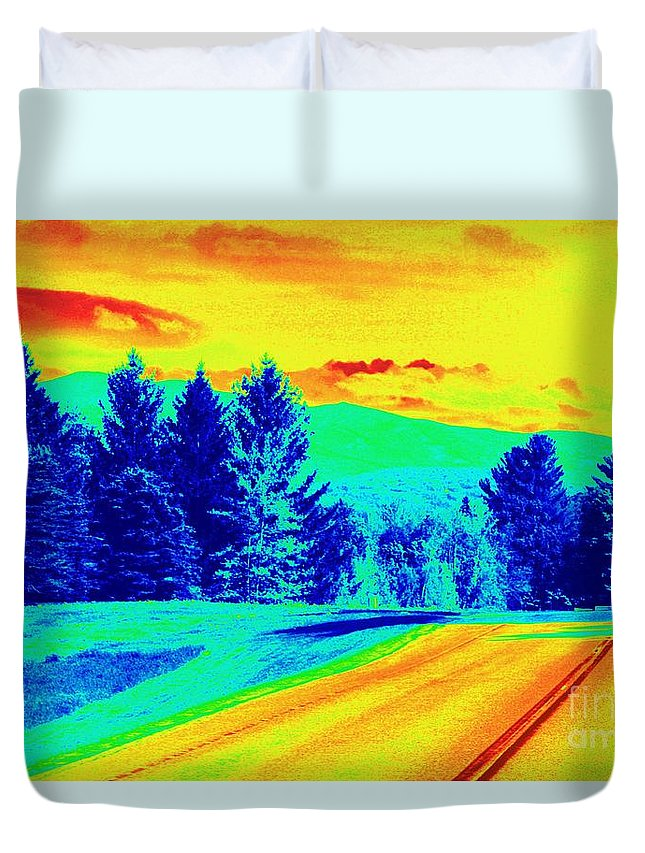 Life Is A Highway Duvet Cover featuring the photograph Life Is A Highway by Patti Whitten