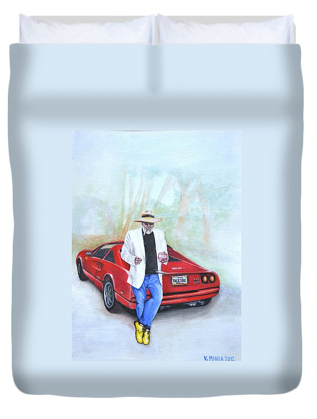 Life Duvet Cover featuring the painting Life Is Good by Victor Minca