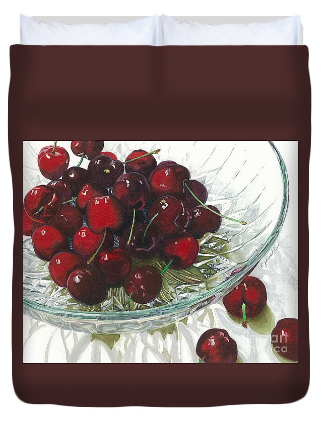 Fruit Duvet Cover featuring the painting Life Is Just A - - - by Barbara Jewell