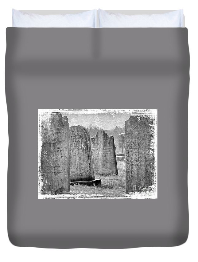 Grave Duvet Cover featuring the photograph Life Isn't Black And White by Mother Nature