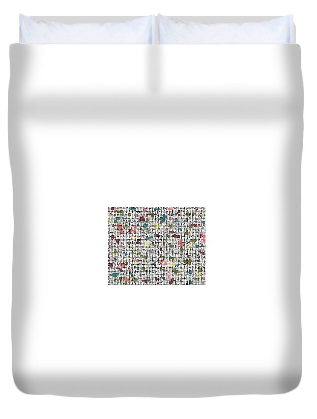 Abstract Duvet Cover featuring the photograph Life 'n Turmoil by Joseph Baril