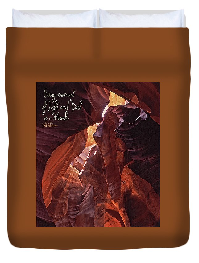 Every Moment Of Light And Dark Is A Miracle Duvet Cover featuring the photograph Light And Dark by Liz Leyden