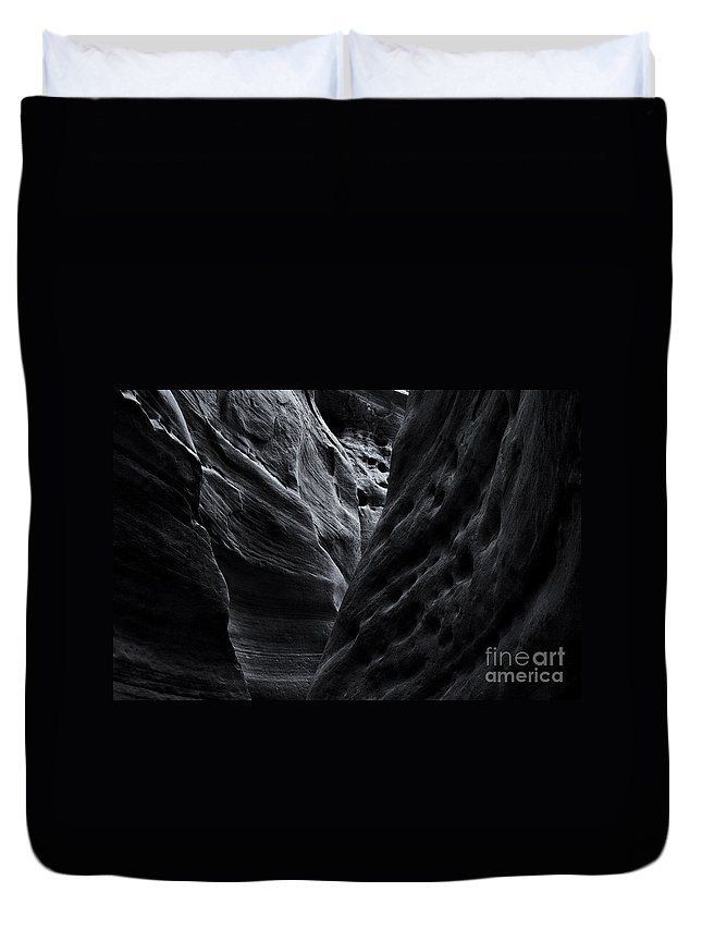 Slot Canyon Duvet Cover featuring the photograph Light And Texture by Mike Dawson