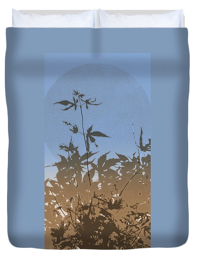 Phone Case Duvet Cover featuring the photograph Light Blue Haiku by Kathy Barney