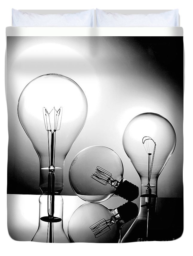 Gary Gingrich Duvet Cover featuring the photograph Light Bulbs by Gary Gingrich Galleries