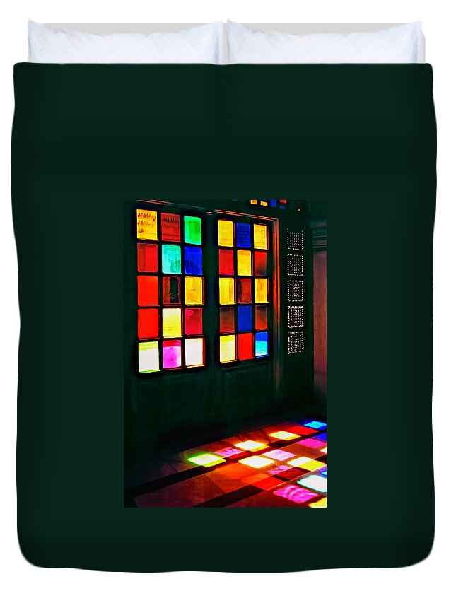 Doors Duvet Cover featuring the photograph Light Entrance by Steve Harrington