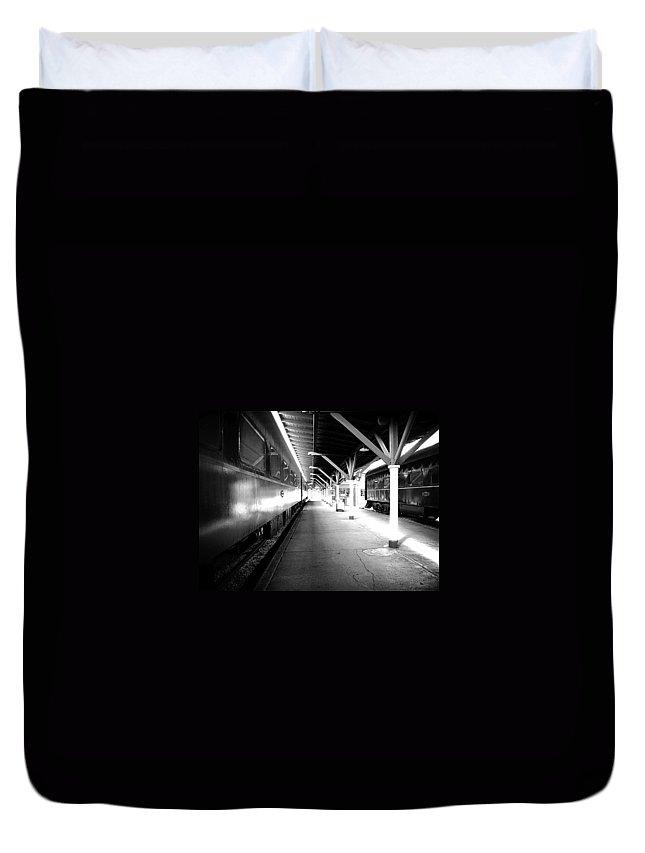 Train Duvet Cover featuring the photograph Light by Faith Williams