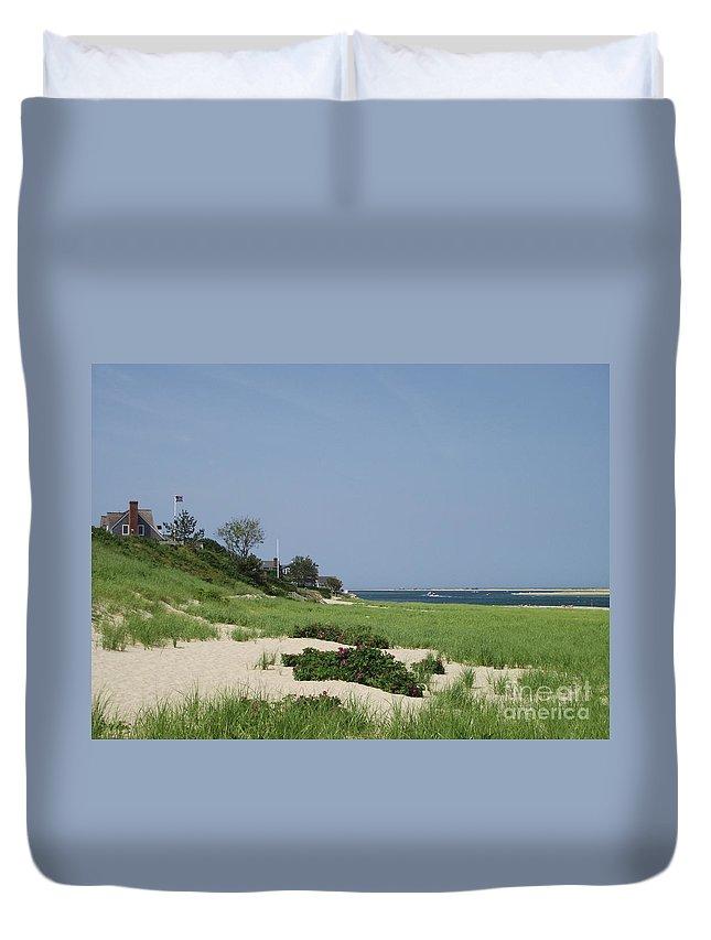 Beach Duvet Cover featuring the photograph Light House Beach by Michelle Welles