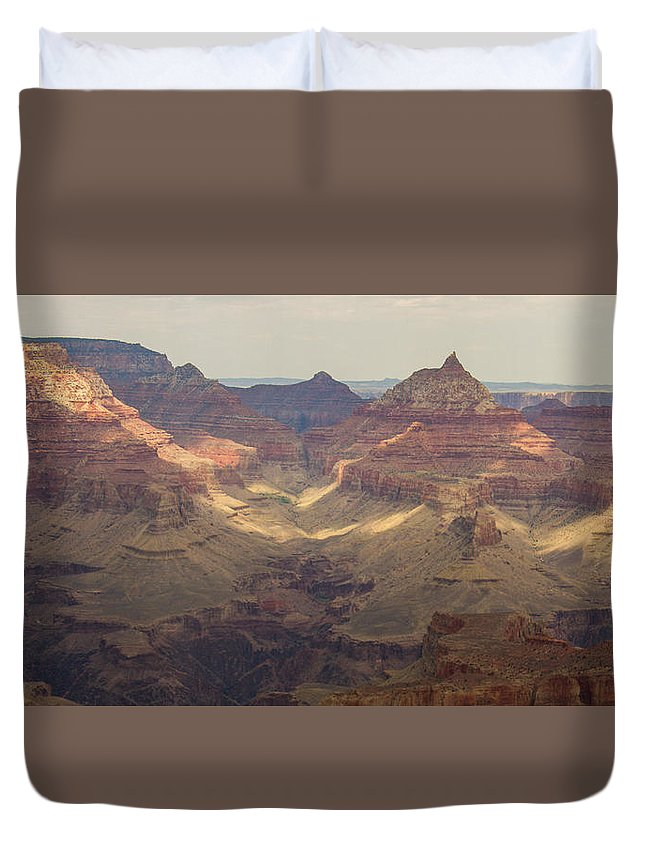 Grand Canyon Duvet Cover featuring the photograph Light On The Canyons by Kathleen Odenthal