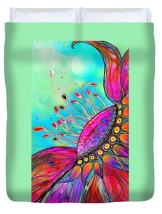 Floral Duvet Cover featuring the digital art Lighter Than Air by Mary Eichert