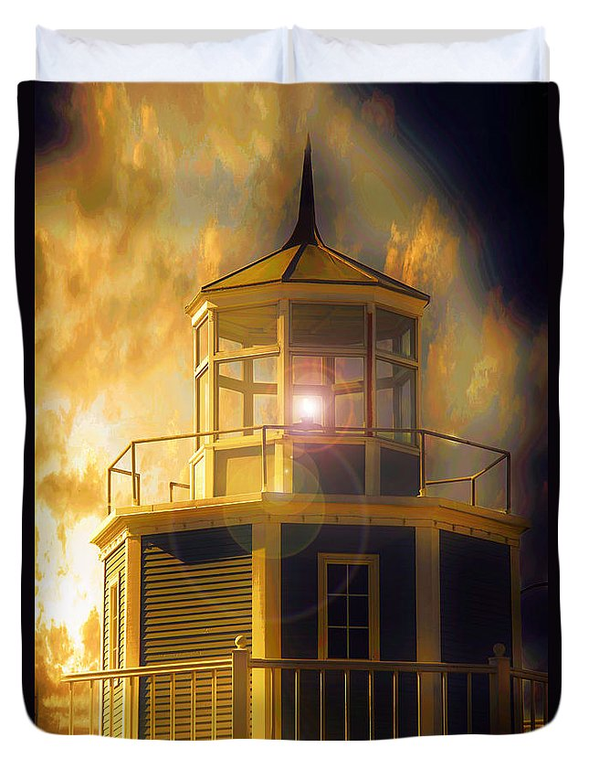 Lighthouse Duvet Cover featuring the photograph Lighthouse by Aaron Berg