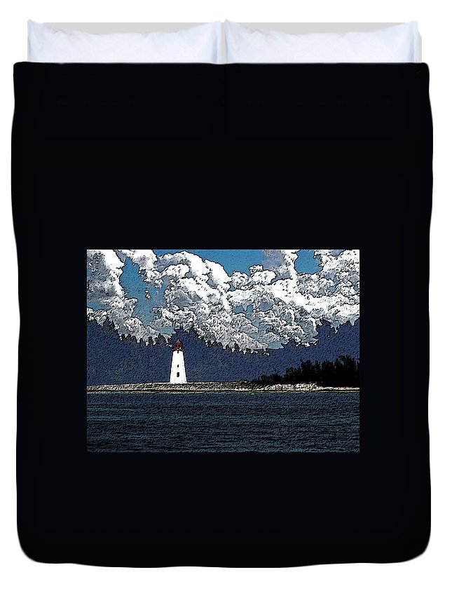 Nassau Bahamas Duvet Cover featuring the photograph Lighthouse by Aimee L Maher ALM GALLERY