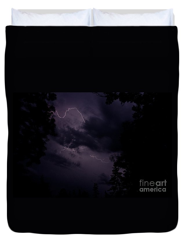Ice Duvet Cover featuring the photograph Lightning 12 by Cassie Marie Photography