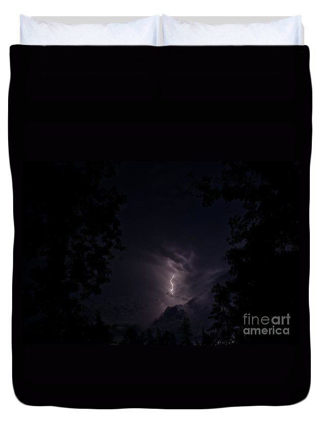 Ice Duvet Cover featuring the photograph Lightning 4 by Cassie Marie Photography