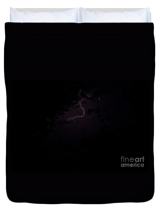 Ice Duvet Cover featuring the photograph Lightning 8 by Cassie Marie Photography