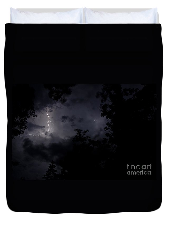 Ice Duvet Cover featuring the photograph Lightning 9 by Cassie Marie Photography