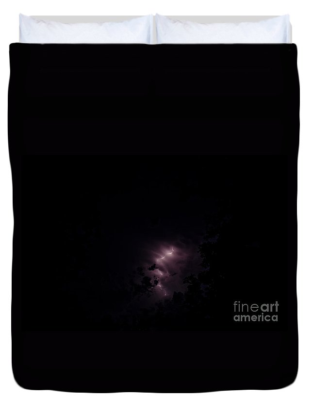 Ice Duvet Cover featuring the photograph Lightning by Cassie Marie Photography