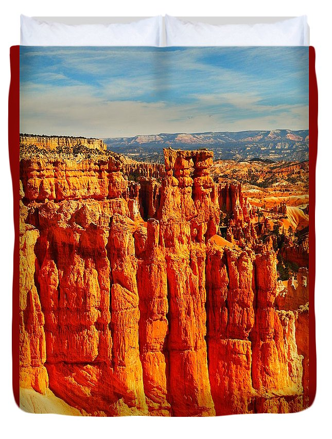 Rocks Duvet Cover featuring the photograph Like Castles From The Sand by Jeff Swan