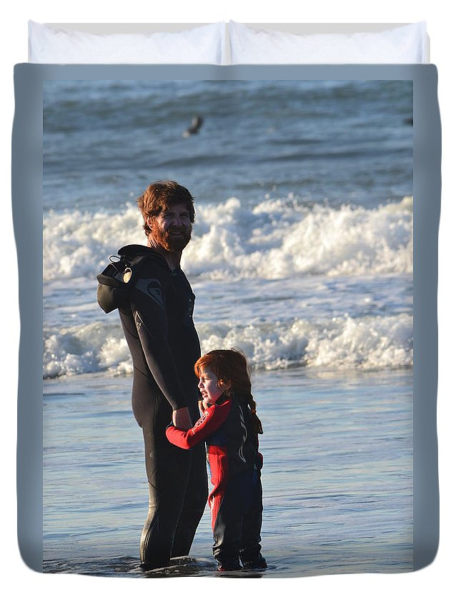 Family Duvet Cover featuring the photograph Like Father Like Daugher by Dean Ferreira