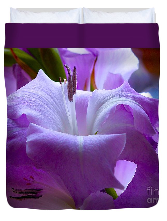 Lilac Flower Duvet Cover featuring the photograph Lilac Flower by Joan-Violet Stretch
