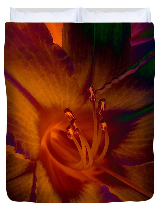 Lily Duvet Cover featuring the photograph Lily Colors by WB Johnston