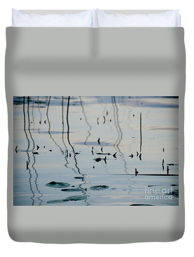 Ice Duvet Cover featuring the photograph Lily Pads by Cassie Marie Photography