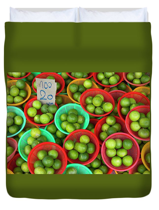 Retail Duvet Cover featuring the photograph Limes by Richard Friend