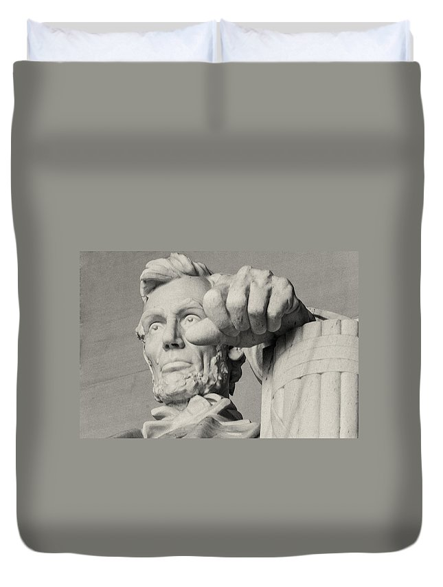 Abraham Lincoln Duvet Cover featuring the digital art Lincoln - 3463 On The Train by David Lange