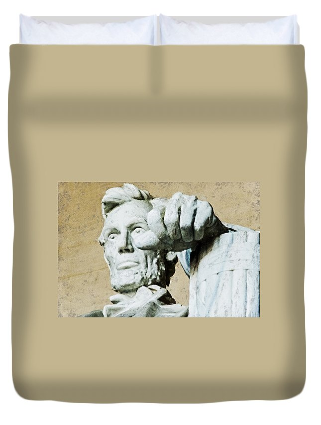 Abraham Lincoln Duvet Cover featuring the digital art Lincoln - 3463acanthus Hp by David Lange