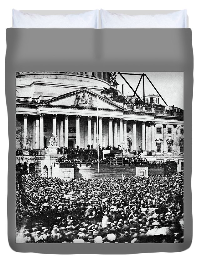 1861 Duvet Cover featuring the photograph Lincoln Inauguration, 1861 by Granger