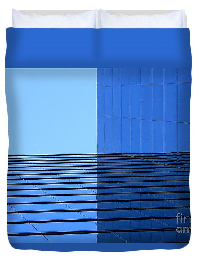 Building Duvet Cover featuring the photograph Squared Reflection by Ashley M Conger