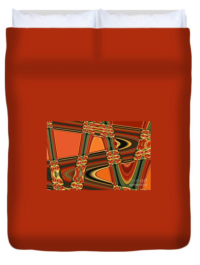 Abstract Duvet Cover featuring the digital art Lines by Michael Anthony