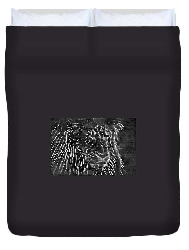 Lion Duvet Cover featuring the photograph Lion - 2 by Becca Buecher