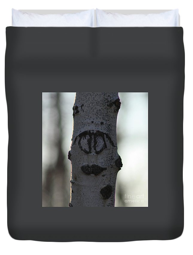Smiley Faces Duvet Cover featuring the photograph Lips by Brandi Maher