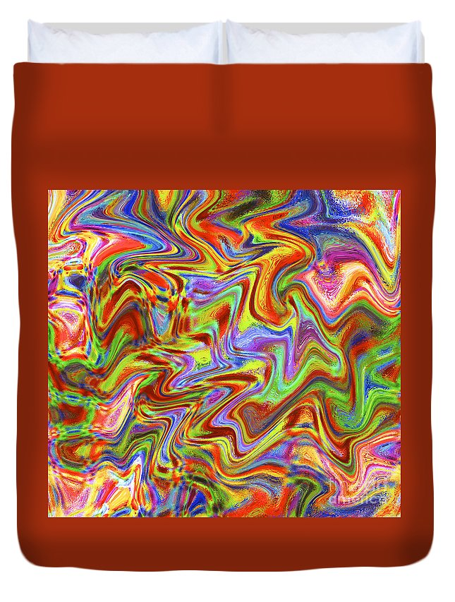 Abstract Duvet Cover featuring the digital art Liquid 1 by Michael Anthony