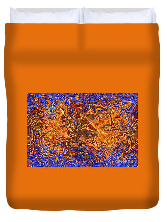 Abstract Duvet Cover featuring the digital art Liquid 5 by Michael Anthony