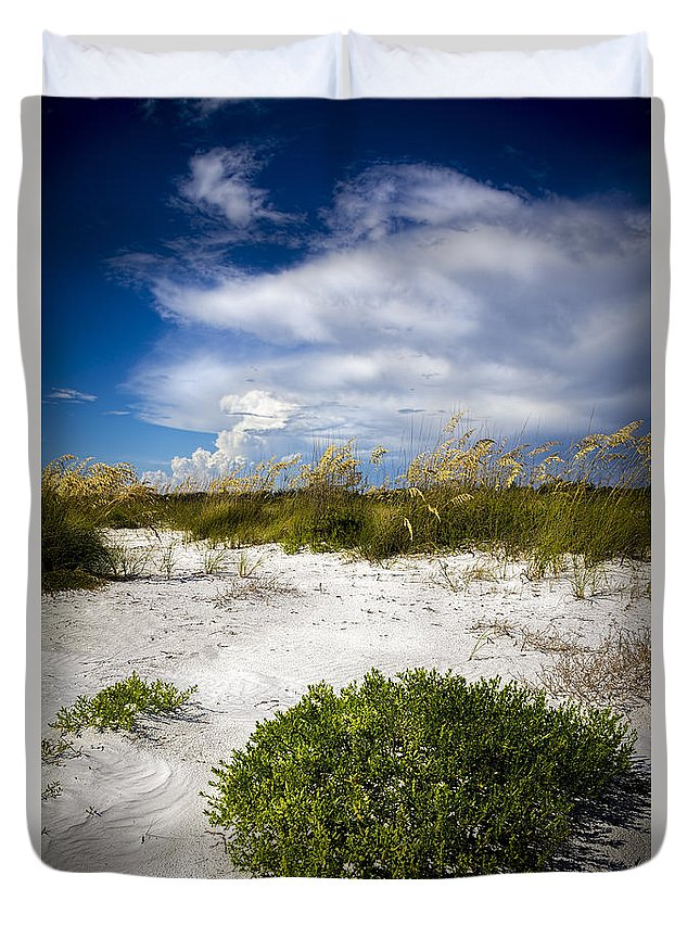 Sand Dunes Duvet Cover featuring the photograph Listen To The Silence by Marvin Spates