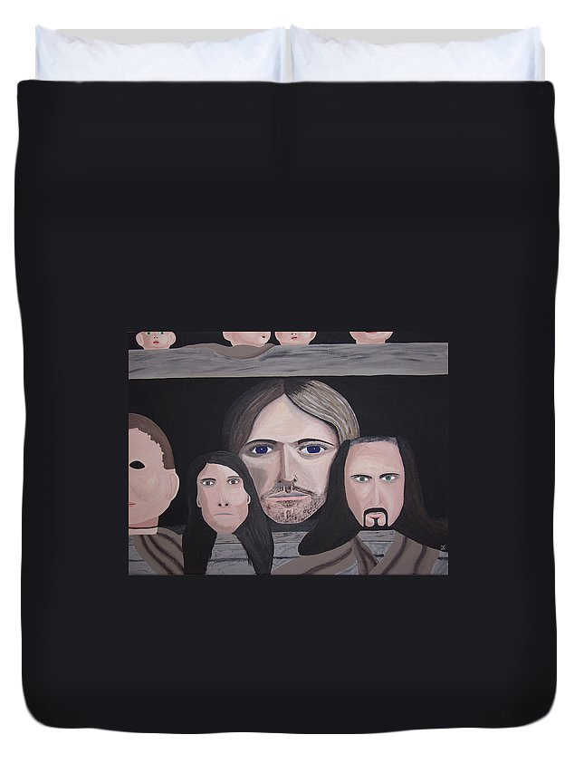 Original Duvet Cover featuring the painting Lithium by Dean Stephens