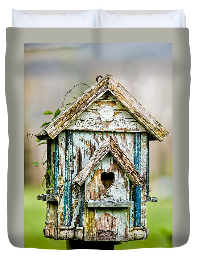 Birdhouse Duvet Cover featuring the photograph Little Birdhouse by Christopher Holmes