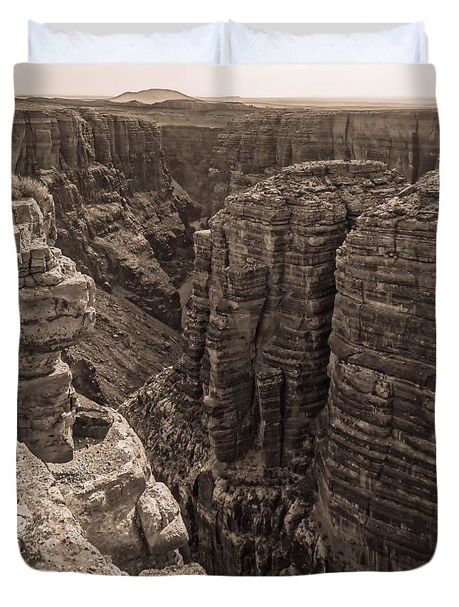 Little Colorado River Overlook Duvet Cover featuring the photograph Little Colorado River Overlook by Dan Sproul