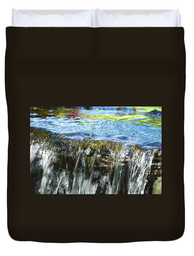 Water Duvet Cover featuring the photograph Little Falls 2 by Charlie Brock