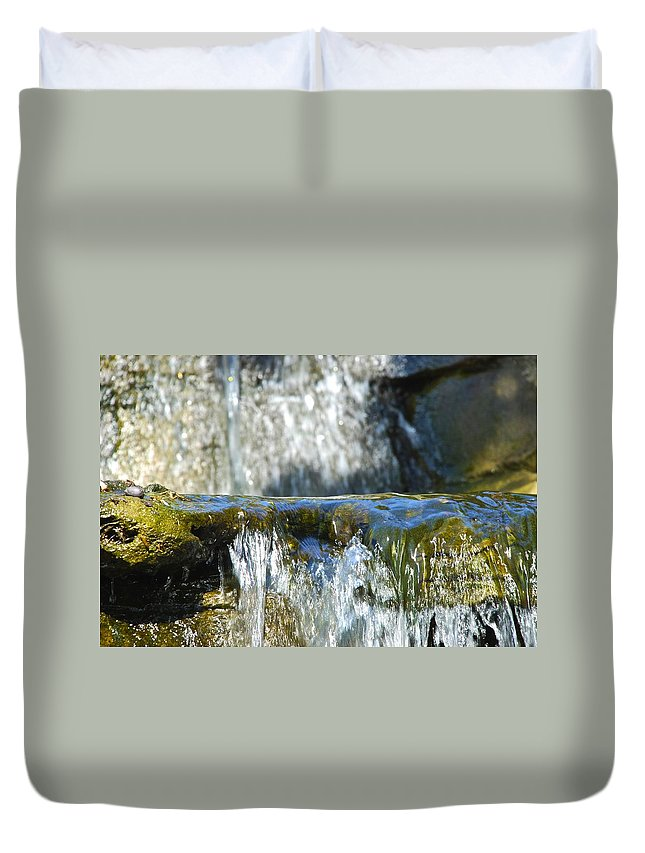 Water Falls Duvet Cover featuring the photograph Little Falls 4 by Charlie Brock
