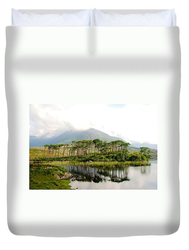 Irish Duvet Cover featuring the photograph Little Island by Charlie and Norma Brock