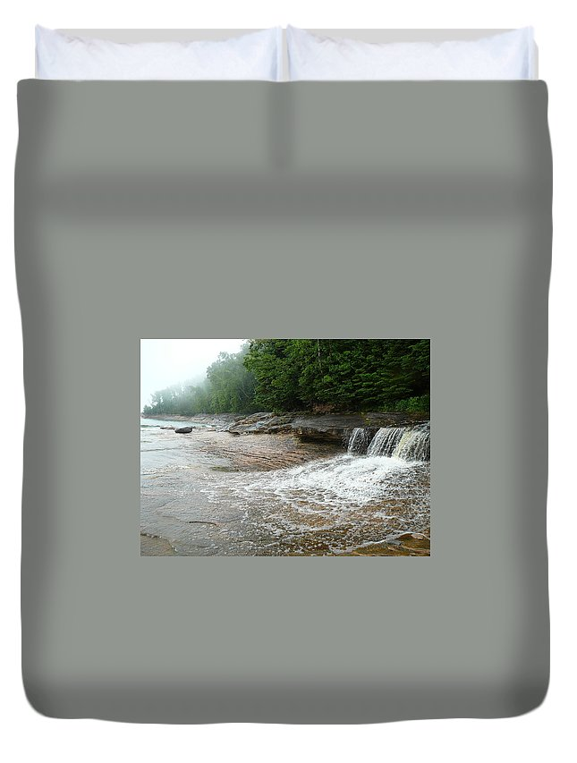 Upper Peninsula Duvet Cover featuring the photograph Little Miner by Two Bridges North