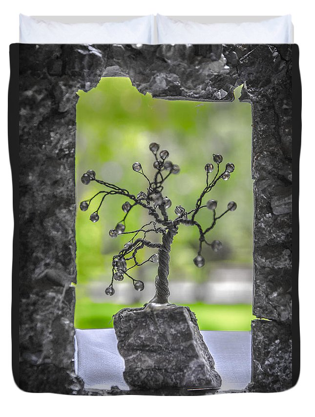 Unusual Duvet Cover featuring the photograph Little Pearl Tree II by Sotiris Filippou