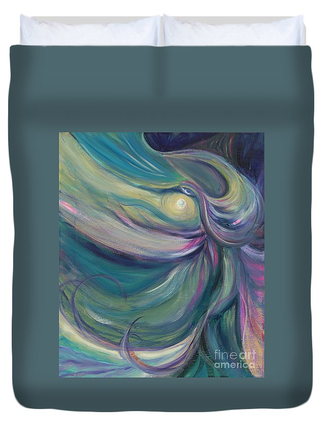 Dance Duvet Cover featuring the painting Liturgical Dance by Nadine Rippelmeyer