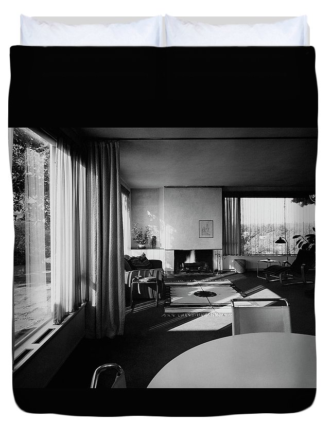 Living Room In Mr. And Mrs. Walter Gropius\' House Duvet Cover for ...