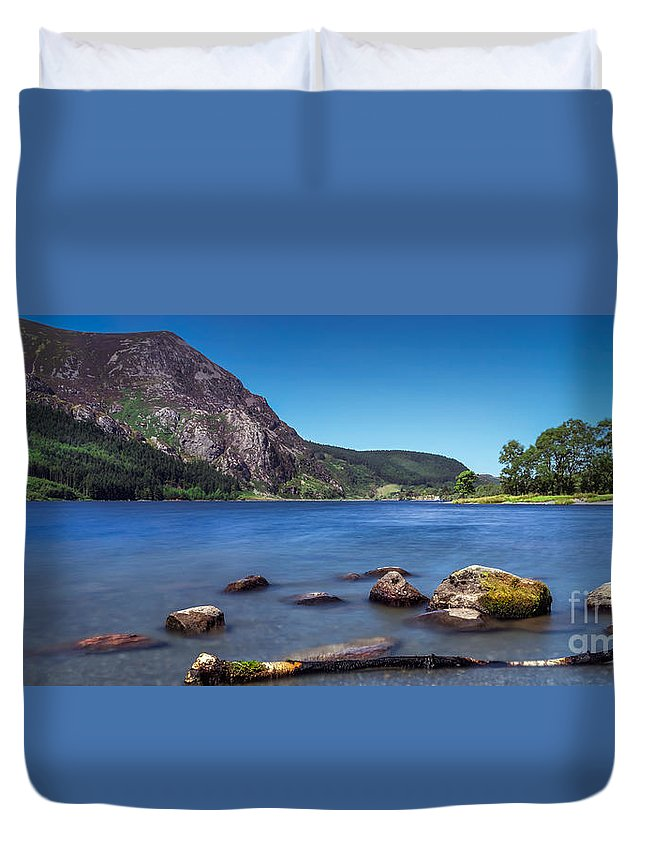Afon Gwyrfai Duvet Cover featuring the photograph Llyn Cwellyn by Adrian Evans