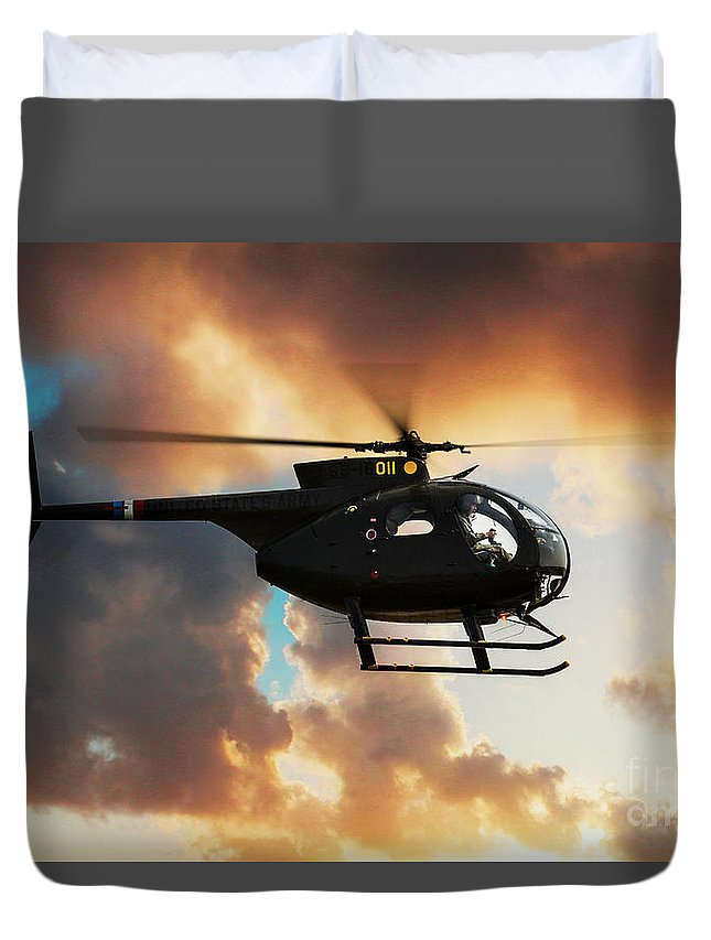 Hughes Oh-6 Cayuse Duvet Cover featuring the digital art Loach by J Biggadike