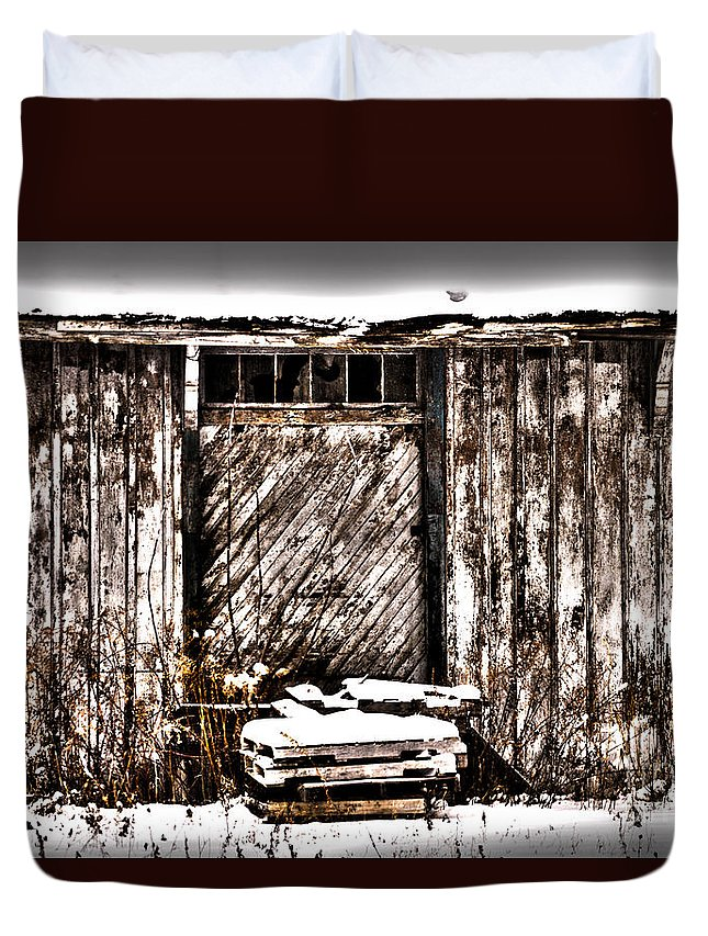Abandoned Duvet Cover featuring the photograph Loading Dock by William Norton
